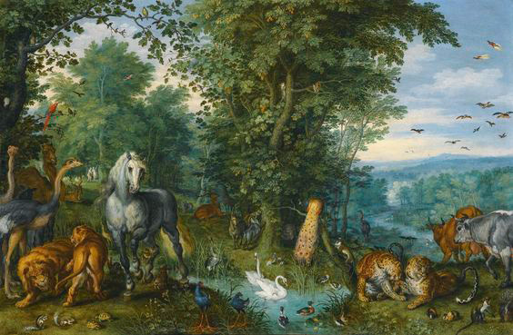Brueghel-de-velours--Jardin-d'Eden-National-Gallery-Londres