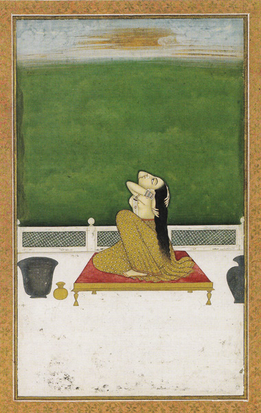 1 Femme-à-sa-toilette-peinture-indienne
