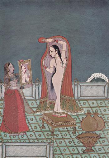 2 Après-le-bain-peinture-indienne
