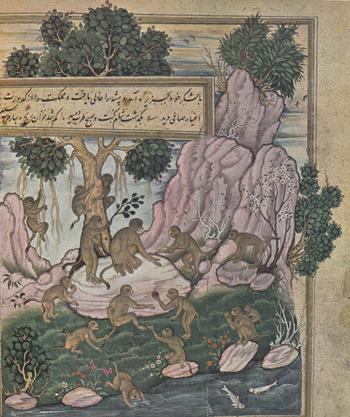 8 Singes-jouant-peinture-indienne