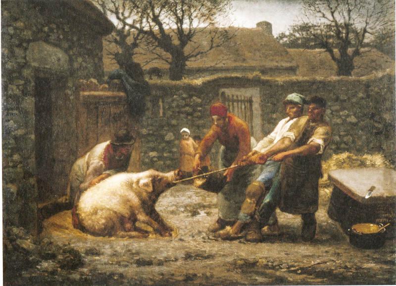 Millet Tueurs de cochon