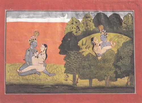 4 Les-félicités-de-Krishna-et-Raddha-peinture-indienne