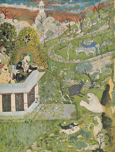 7 Raja-Ram-Singh-à-la-chasse-peinture-indienne