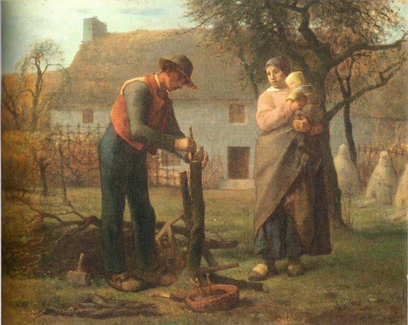 Millet Paysan greffant un arbre