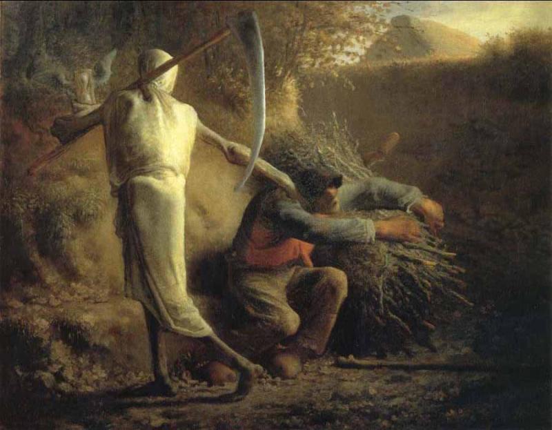 Millet_la mort et le bucheron