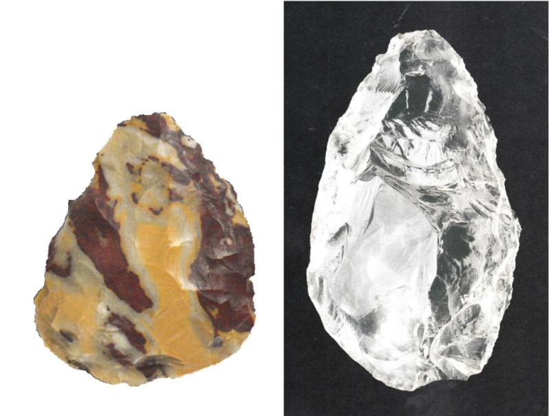 Neandertal Racloirs jaspe et cristal