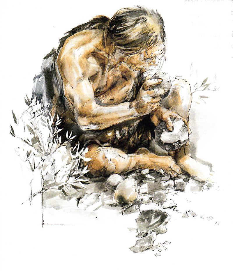 Neandertal Tailleur de pierre Clarys