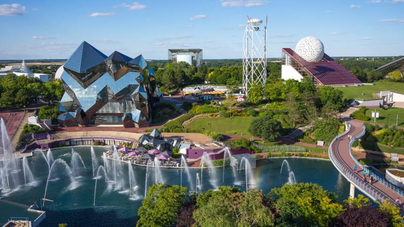 Futuroscope vue aérienne du Parc