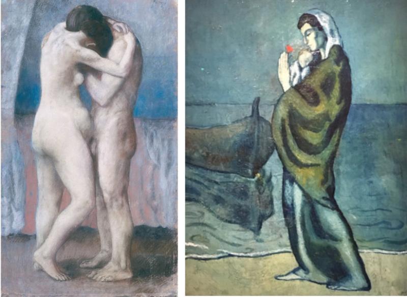 6-L'étreinte-et-femme-au-bord-mer-Picasso