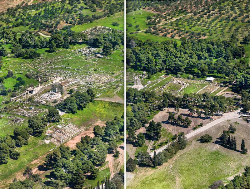 Epidaure (5) Vue aérienne