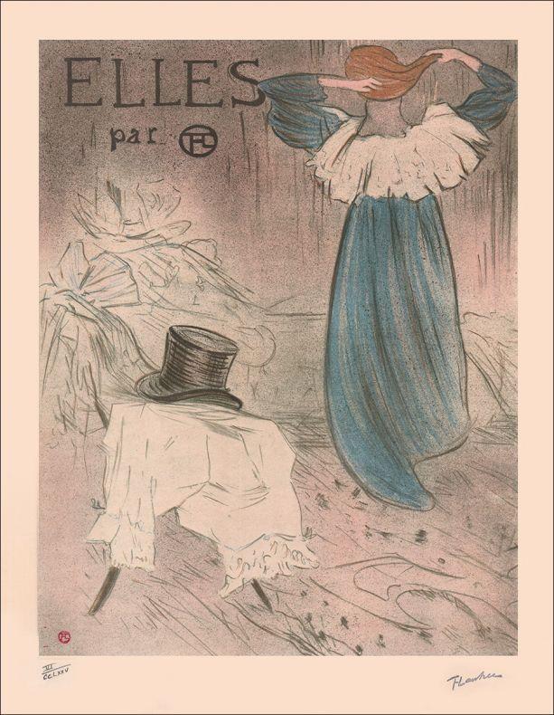 Toulouse-Lautrec Couverture Elles