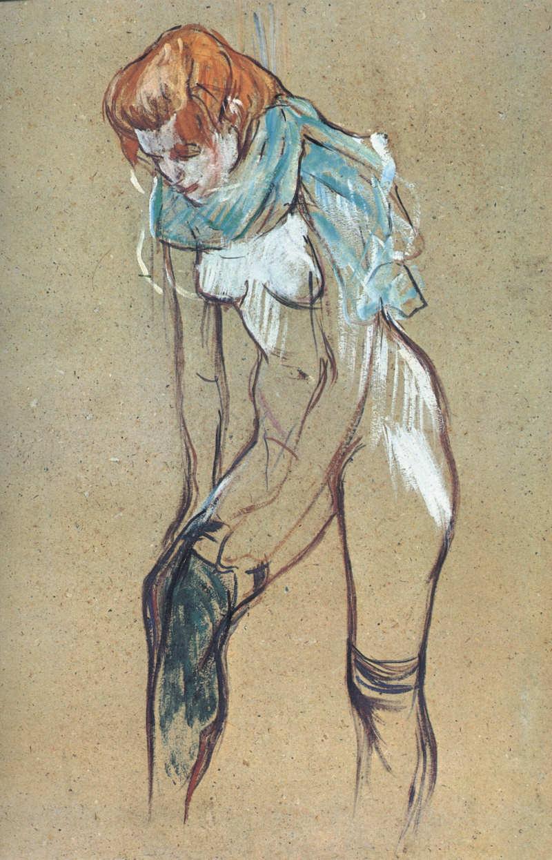 Toulouse-Lautrec Femme qui tire son bas