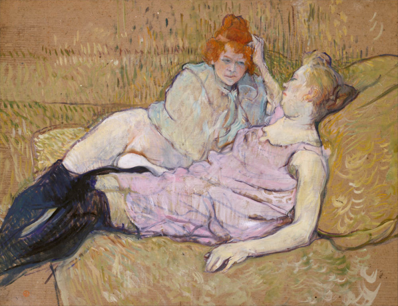 Toulouse-Lautrec Le sofa r