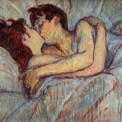Toulouse-Lautrec Dans le lit Baiser