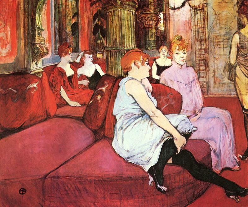 Toulouse-Lautrec Au salon de la rue des Moulins v 1894