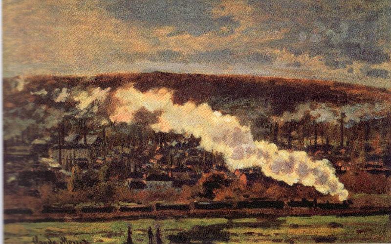 Claude Monet, Train de cargo à Deville-lès-Rouen, 1872
