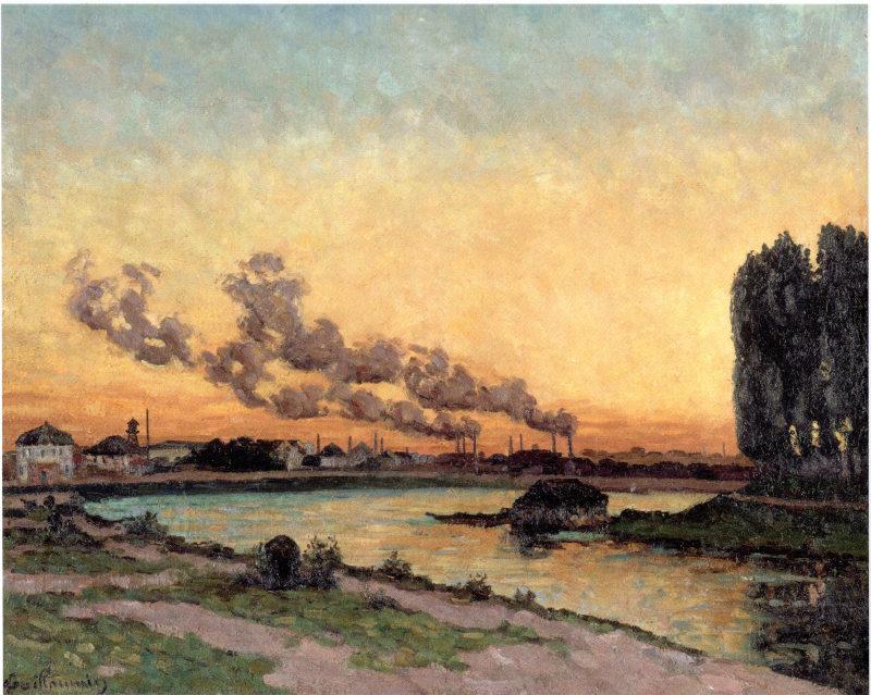 Armand Guillaumin Soleil couchant à Ivry