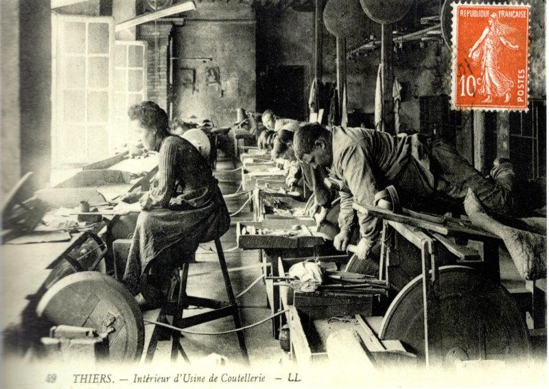 Thiers intérieur d'usine de coutellerie