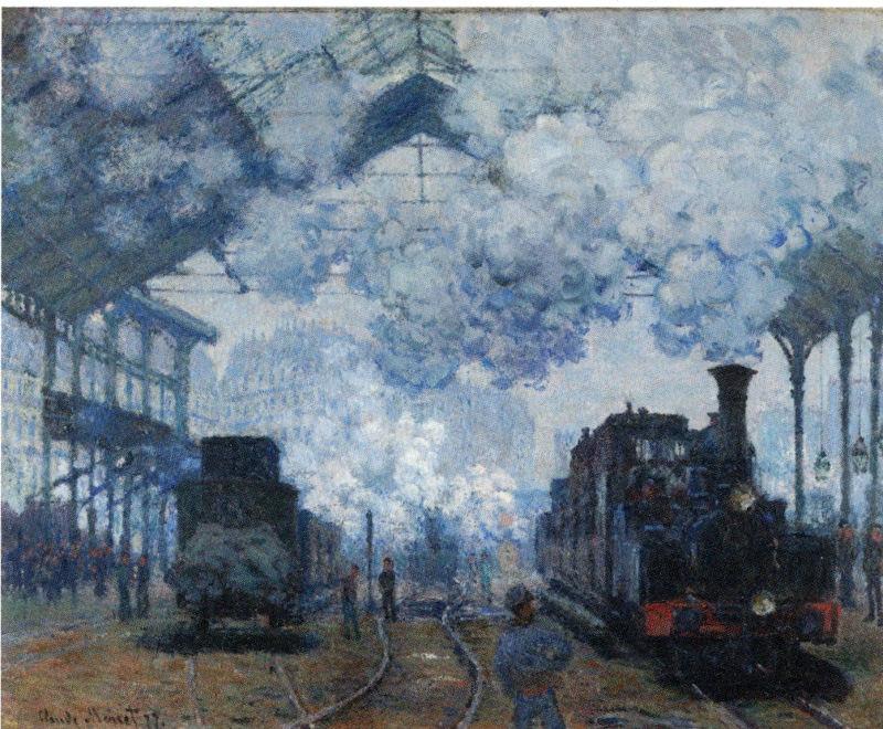 Claude Monet L'intérieur de la gare Saint Lazare