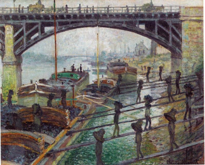 Claude Monet Déchargeurs de charbon à Clichy
