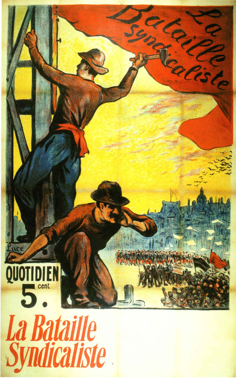 Maximien Luce Affiche Le Drapeau rouge ou La bataille syndicaliste