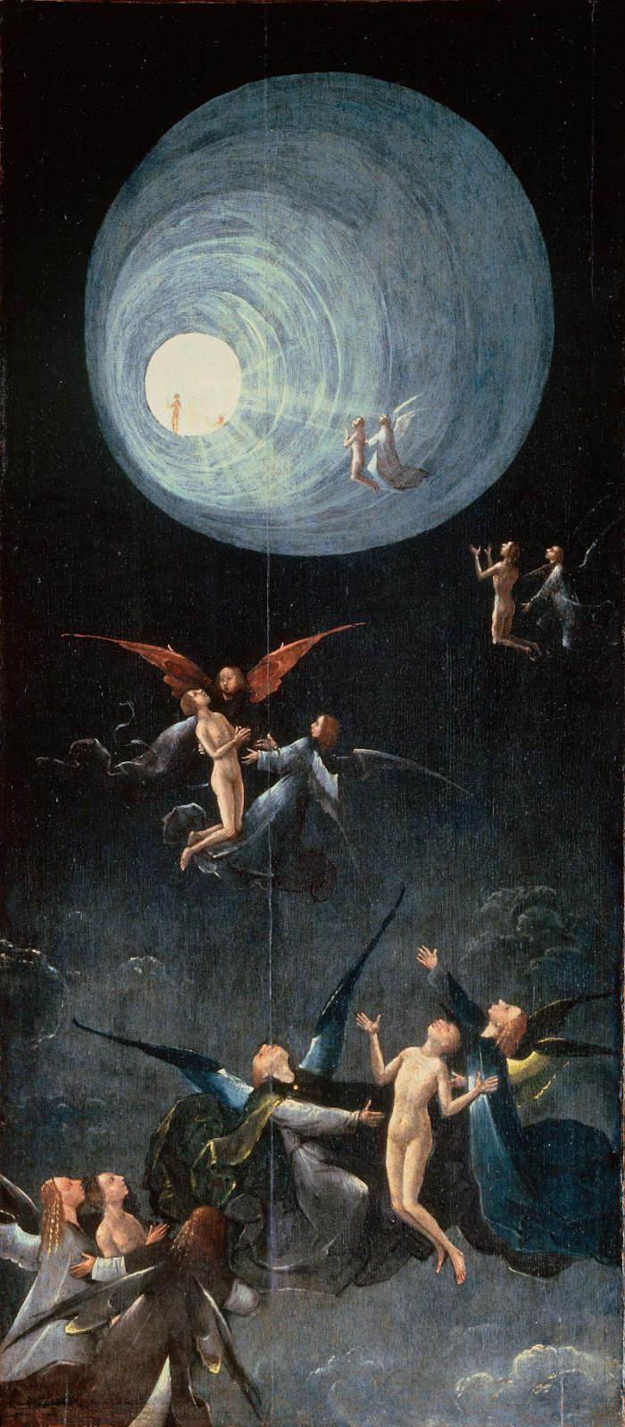 17 Jérôme Bosch  Vision de l'au-delà  panneau de la montée des bienheureux vers l'empyrée  vers 1505 - 1515